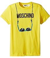 Moschino Kids - Short Sleeve Logo Sunglasses Graphic T-Shirt (Big Kids)