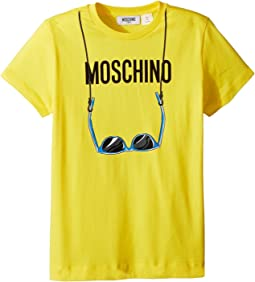Short Sleeve Logo Sunglasses Graphic T-Shirt (Big Kids)