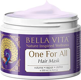 Bella Vita Organic Hair Mask For Hairfall Control, Volume, Frizzy Hair, Color Damaged Hair Repair & Growth With Keratin, Biotin, Argan, Onion, Tea Tree & Coffee, 200 ml