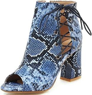 blue snakeskin boots