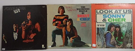 Sonny & Cher Lot of 3 Vinyl Record Albums The Wondrous World of Sonny & Cher and more