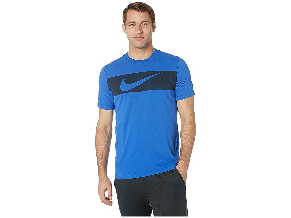 Nike Dry Tee Dri-FITtm Cotton Swoosh Bar (Game Royal/Light Armory Blue) Men