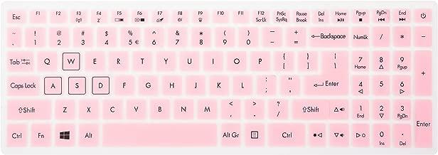 Leze - Ultra Thin Soft Keyboard Protector Skin Cover for Acer Aspire VX 15 VX5-591G, Aspire V15 VN7-593G,Predator Helios 300,Aspire V17 VN7-793G Gaming Laptop US Layout - Pink
