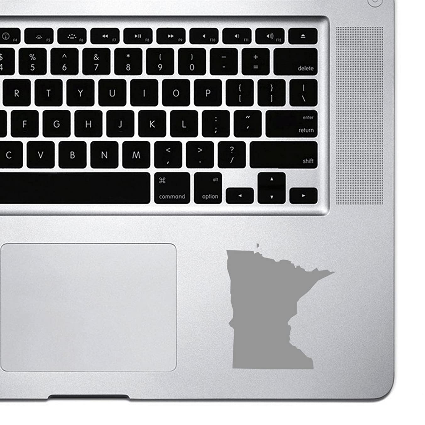 StickAny Palm Series Minnesota MN Sticker for Macbook Pro, Chromebook, and Laptops (Silver)