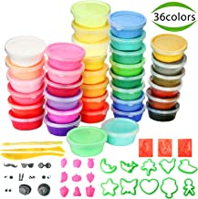 Air Dry Clay, POZEAN Modeling Clay 36 Colors for Kids with Sculpting Tools and Accessories, Best Gifts for Kids/Children/Adults