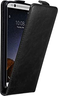 Cadorabo Case Works with ZTE Axon 7 in Night Black – Flip Style Case with Invisible Magnetic Closure – Wallet Etui Cover Pouch PU Leather Flip