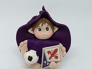 Folletto Gnomo elfo squadra Calcio Fiorentina idea regalo Handmade personalizzabile con il nome. SI ILLUMINA AL BUIO. Made...