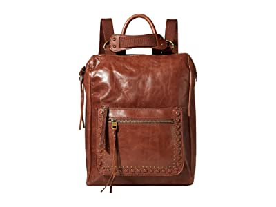 The Sak Loyola Leather Convertible Backpack (Teak) Backpack Bags