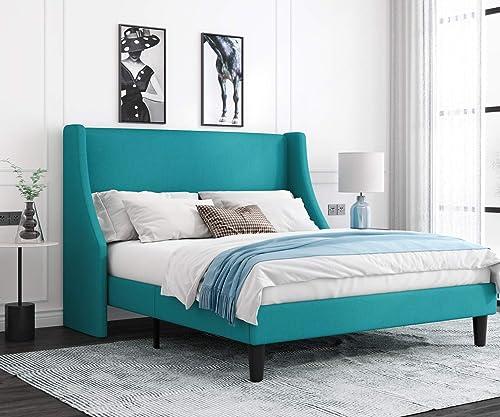 Allewie Full Size Modern Platform Bed Frame with Wingback