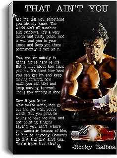 Rocky Balboa That Ain't You Horizontal No Framed (16 x 24)
