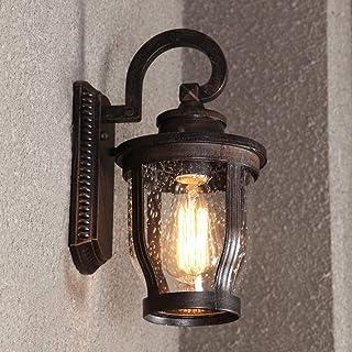 DLGGO American Country Waterproof Outdoor Wall Lamp Décor Surface Mounted Bubble Glass Lantern Garden Patio Courtyard Corr...