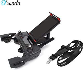 O'woda Cellphone/Tablet Mount Holder Adjustable Extended Bracket with Controller Neck Lanyard for DJI Spark/Mavic Pro/Mavic Air Remote Controller Accessories (Not for Mavic 2 Pro)