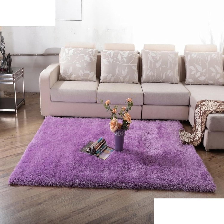 Carpet Doormat Long Hair Living Room Tea Table Encrypted Pad Bedroom Bedside Mats-E 80x160cm(31x63inch)