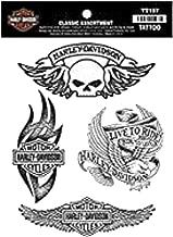 Harley-Davidson Temporary Tattoos, Classic Tattoo Assortment, Black TT197