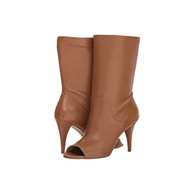 MICHAEL Michael Kors Elaine Open Toe Bootie (Acorn Soft Distressed Leather) Women