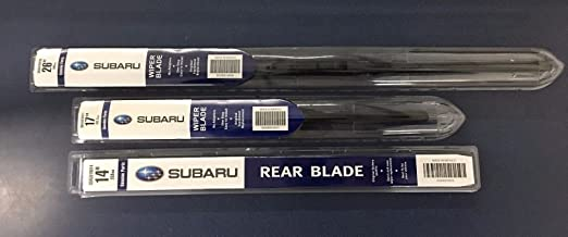 2014-2018 Subaru Forester Front & Rear Windshield Wiper Blade Set Genuine OEM