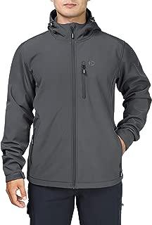 Men's Softshell Jacket with Hood Fleece Lined Tactical Coat Waterproof for Hiking