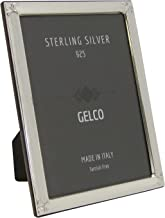 Gelco Italian 925 Sterling Silver Picture Frame with Floral Chased Corners (8X10)