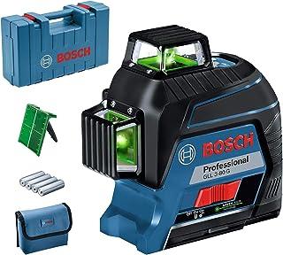 Bosch Professional 0601063Y00 3-80-Nivel GLL 3-80 G (Alcance 30/ 120 m, 3 líneas, láser Verde, en maletín), 1.5 V, Azul
