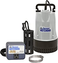 THE BASEMENT WATCHDOG Model BW1050 1/2 HP 4,400 GPH at 0 ft. and 3,540 GPH at 10 ft. Cast Iron/Cast Aluminum Submersible S...