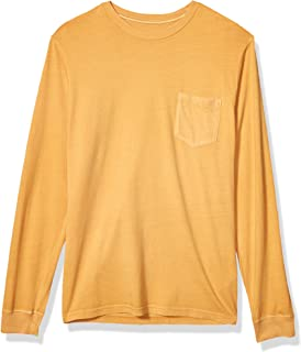 RVCA Men's PTC Pigment Long Sleeve Crew Neck Pocket T-Shirt