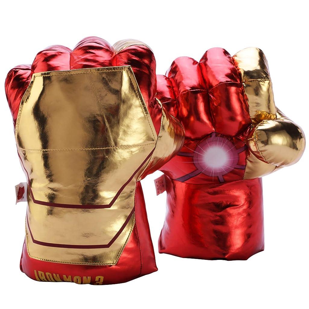 Hulk Thanos Ironman Spiderman Superhero Gloves Hands Fists for Kids, Marvel Superhero Hands Cosplay Costumes Accessories Toys