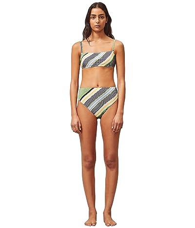 Tory Burch Swimwear Printed High-Waisted Bottoms (Field Day Stripe) Women