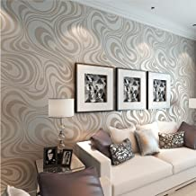 10M Modern Luxury Abstract Curve 3d Wallpaper Roll Mural Paper Parede Flocking for Striped Cream&white Color 0.7m8.4m=5.88SQM