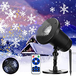 Snowfall LED Light Projector Color Snowflake Lights Projector Christmas Snow Light Snowfall Projection Light with Snowstorm Effect for Christmas,Holiday,Halloween,Party,Garden,Wedding,Indoor Outdoor