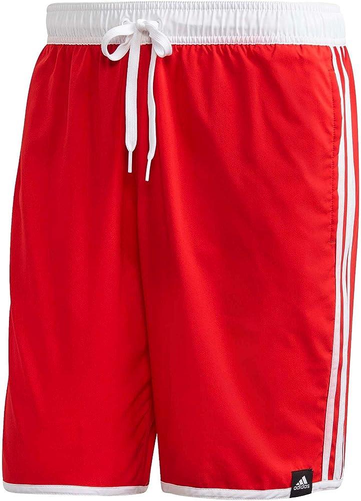 Adidas 3s clx sh cl, costume da bagno a pantaloncini per uomo,in tessuto tecnico leggero GQ1108