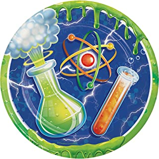Creative Converting Mad Scientist Sturdy Style Paper Dessert Plates (8 Count), 7