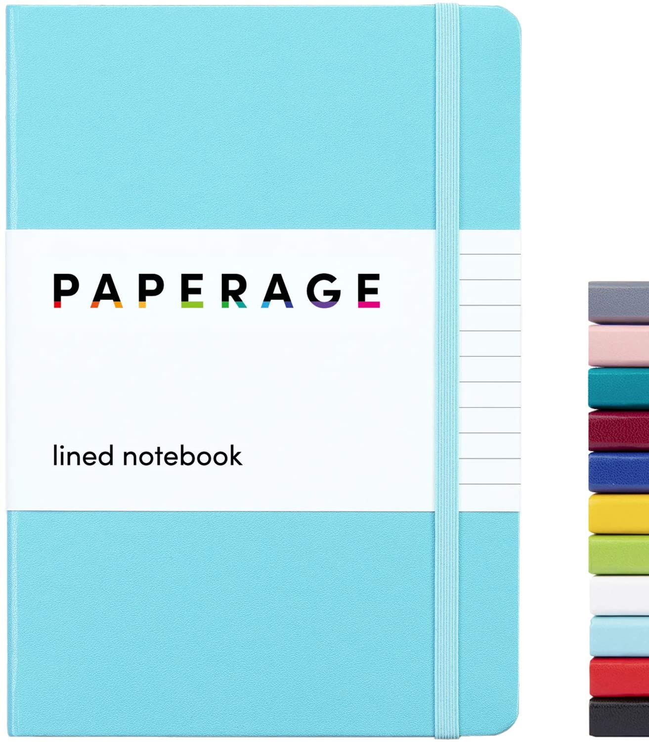 Paperage Lined Journal Notebook Hard Cheap mail order specialty store Cover X 5.7 inch Manufacturer OFFicial shop Medium 8