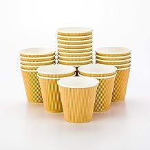 أكواب قهوة ورقية 8 أوقية ، 25 أكواب ورقية قابلة للاستعمال مرة واحدة - مانعة للتسرب ، قابلة لإعادة التدوير ، أكواب ساخنة ور...