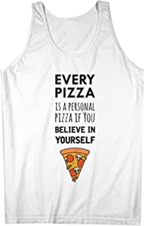 Every Pizza Is A Personal Pizza おかしいです 皮肉な 男性用 Tank Top Sleeveless Shirt
