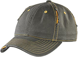 Rip and Distressed Cap DT612 OSFA Army/Gold