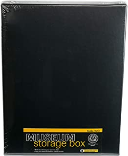 Lineco 9x12 Black Museum Drop Front Archival Storage Box. Acid-Free w/Metal Edge. Lignin-Free. Protects Documents/Prints from Fade or Discolor; Picture Longevity, Crafts, DIY. 733-2109