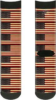 جوارب للجنسين من باكل-داون، بتصميم علم الولايات المتحدة القديم وطاقم واحد، متعدد الألوان