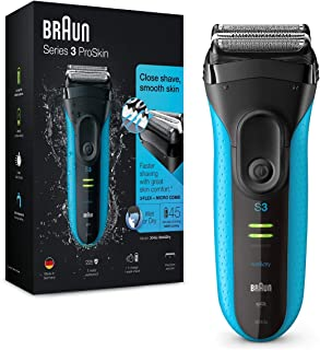 Braun Series 3 ProSkin 3040s Rechargeable Wet & Dry Electric Shaver - Blue