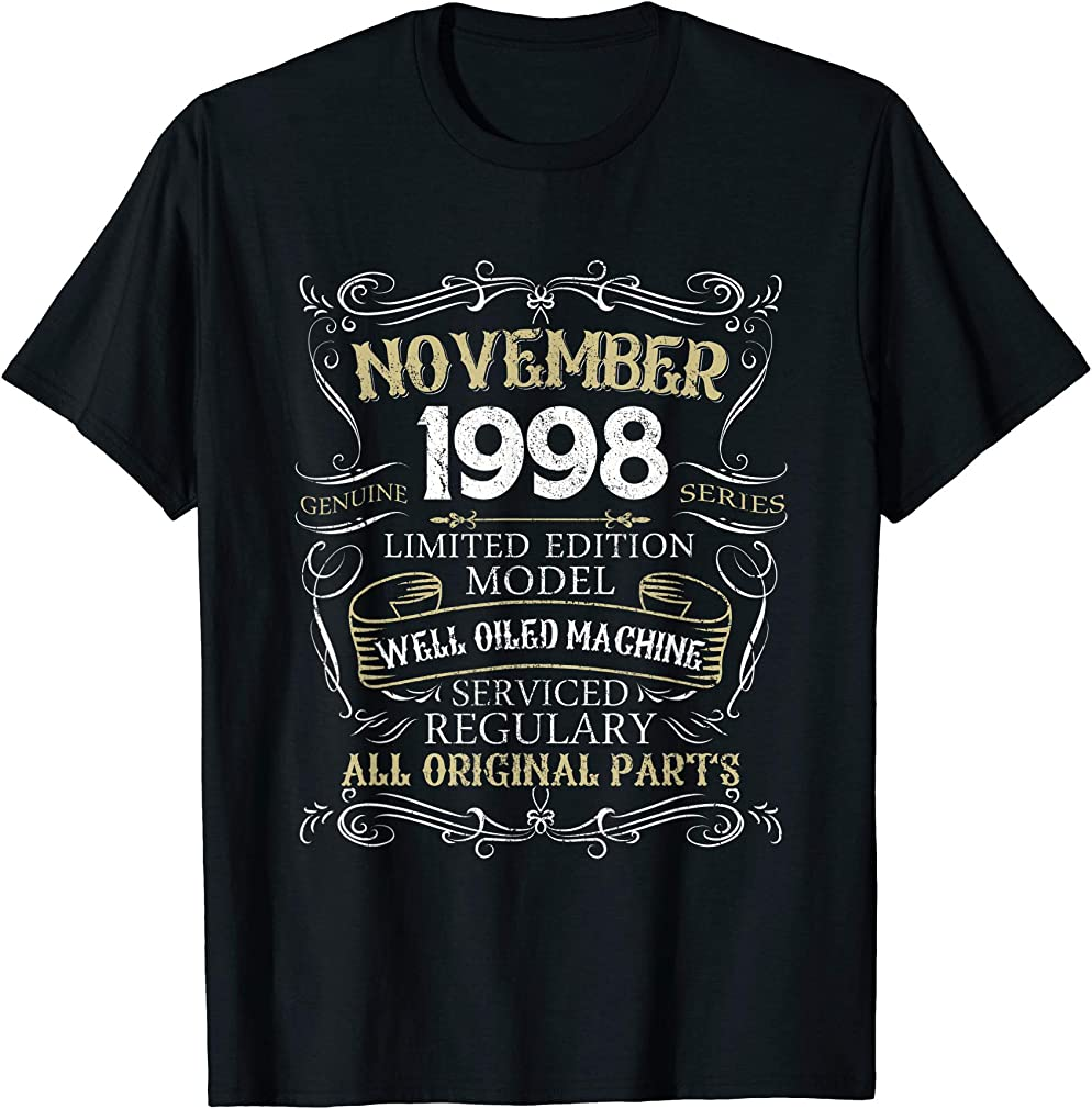 21st Birthday Born In November 1998 T-shirt 21 Years Old