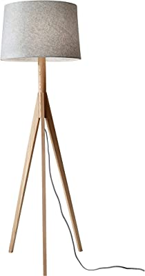 Adesso Home 3208-12 Transitional One Light Floor Lamp from Eden Collection in Bronze/Dark Finish, 18.00 inches, 59.25 in