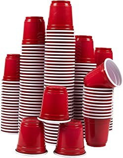 Plastic Shot Glasses - 150-Pack 2.5 Oz Disposable Party Cups, Mini Shooter Glasses for BBQ, Frat, College Graduation Parties, Tailgate Parties, Red - 2 x 2 x 2 Inches