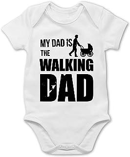 Shirtracer Sprüche Baby - My Dad is The Walking Dad - Baby Body Kurzarm für Jungen und Mädchen
