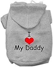 I Love My Daddy Screen Print Dog Hoodies