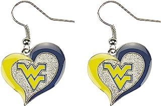 aminco NCAA Alabama Crimson Tide Swirl Heart Earrings