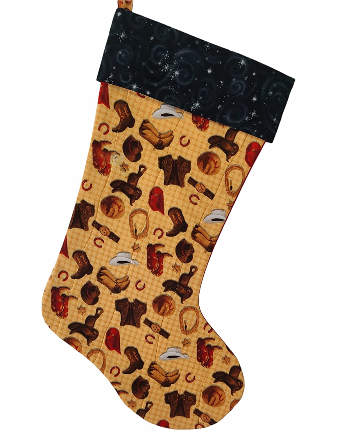 Cowboy Collage Quilted Christmas Super beauty product Max 87% OFF restock quality top Stocking