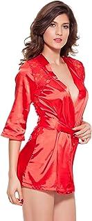AITOCO 浴衣 レディース バスローブ 浴衣式 軽量 膝上ショートローブ 女性用 ドレスガウンラウンジウェア ルームウェア レディース 大人