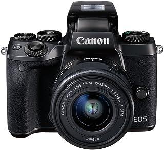 Canon EOS M5 - Kit de Cámara Evil de 24.2 MP con Objetivo EF-M 15-45 S (Pantalla Táctil DE 3.2 DIGIC NFC CMOS Bluetooth ISO EF Lenses Remote Shooting Full HD WiFi) Negro