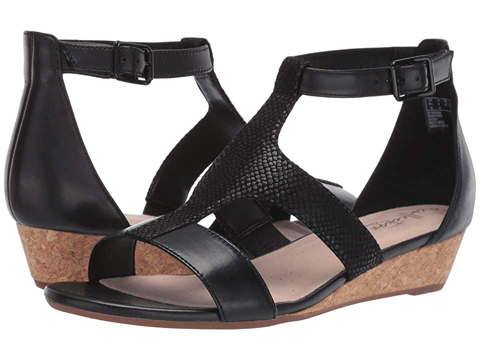 Clarks Abigail Lily (Black Leather/Suede) Women