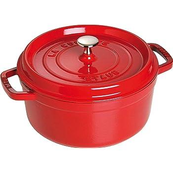 Staub 40509-835-0 Cocotte Ronde en Fonte Cerise 24 cm 3,80 L Pour 4 Prs