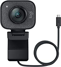 Logitech StreamCam, 1080P HD 60fps Streaming Webcam with USB-C and Built-in Microphone, Asian Pack, Graphite